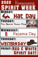 2020 comet Homecoming Spirit Week