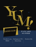 LIONS CLUB PANCAKE SUPPER