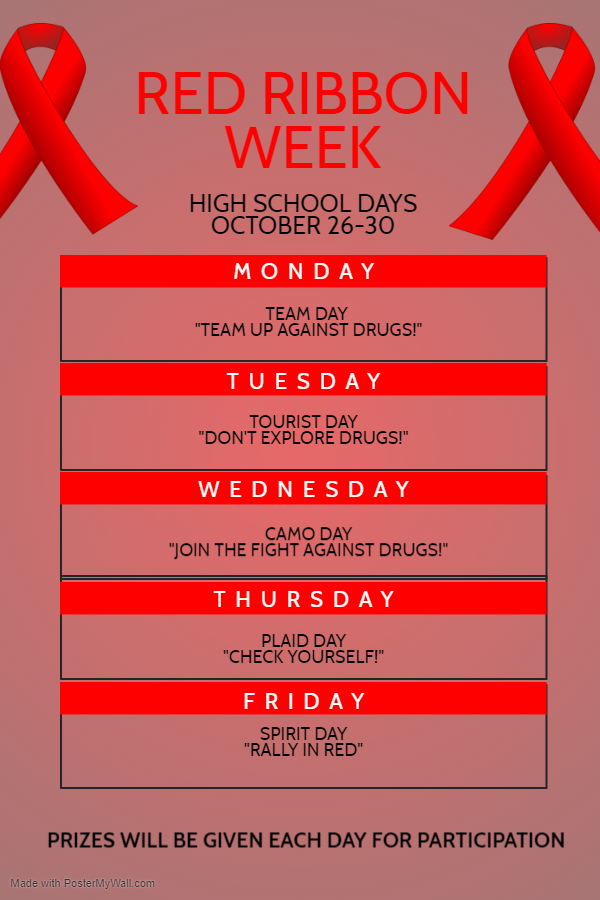 Red Ribbon Week Oct 26-30