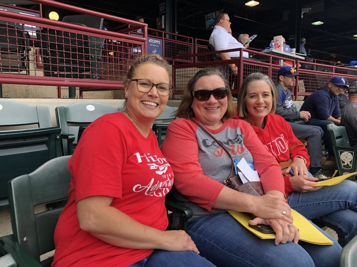 The third grade teachers enjoying a day at the ballpark.⚾️