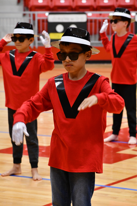 "Third Grade dancing to Michael Jackson's ""Thriller."""