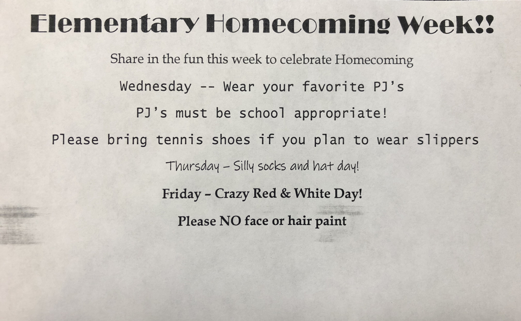 Elementary homecoming activites