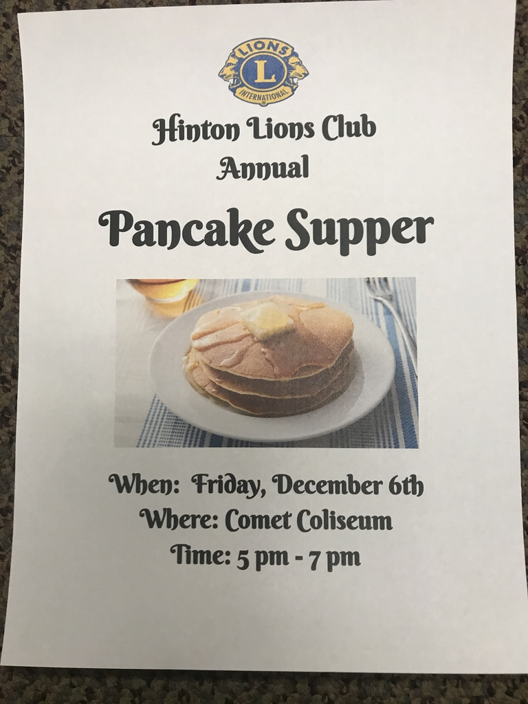 Lions Club Pancake Supper this Friday!