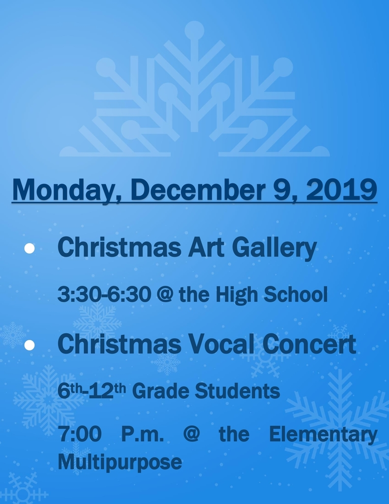 MONDAY, DEC. 9th ART EVENTS