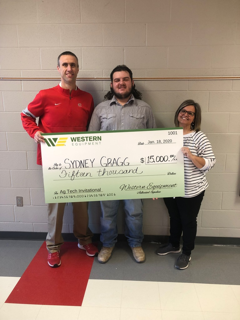 Sydney Gragg was awarded a $15,000 scholarship from Western Equipment.