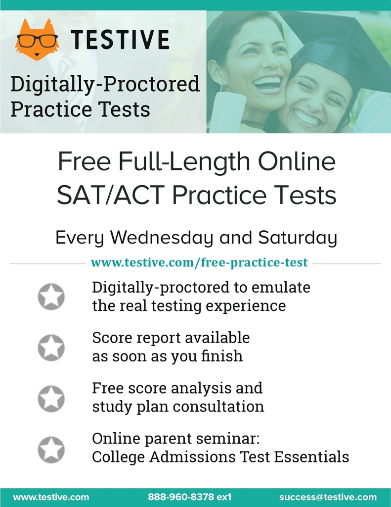 Free Online Proctored Practice SATs/ACTs