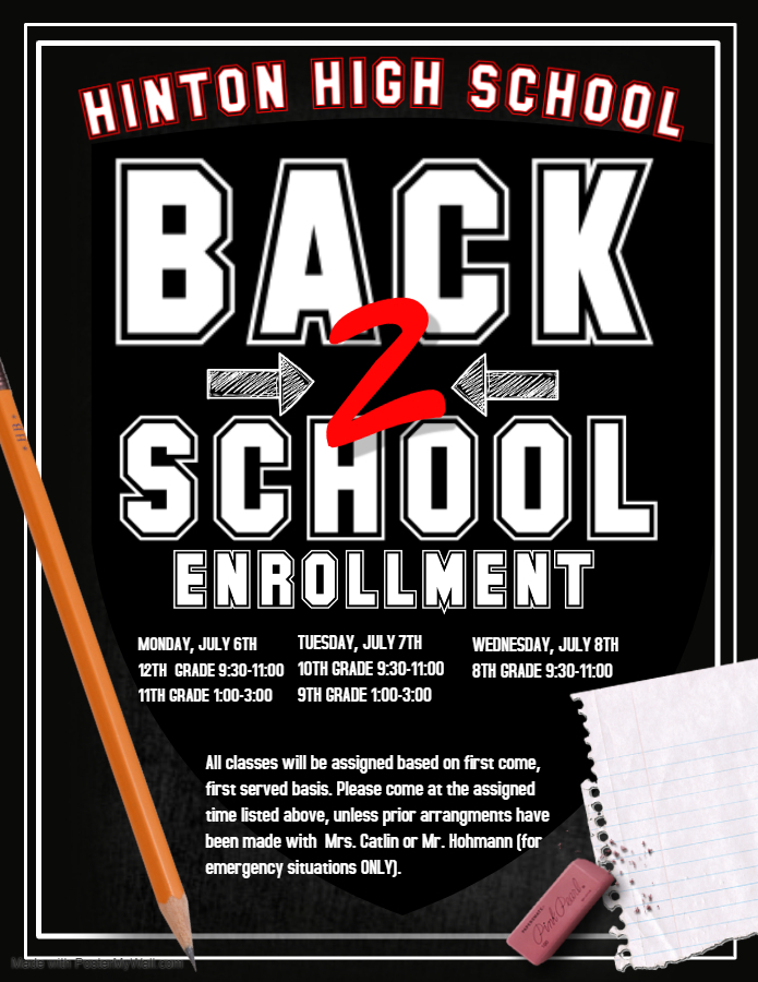 High School Enrollment Dates