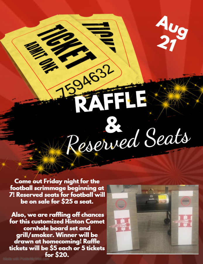 Raffle/Reserved Seats